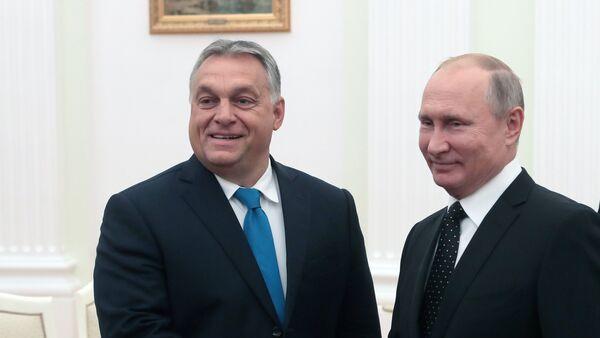 Встреча президента РФ В. Путина с премьер-министром Венгрии В. Орбаном - Sputnik Mundo