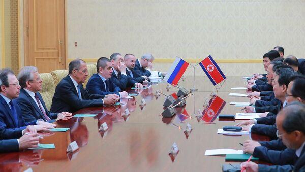 La visita del ministro de Asuntos Exteriores ruso Serguéi Lavrov a Corea del Norte (archivo) - Sputnik Mundo