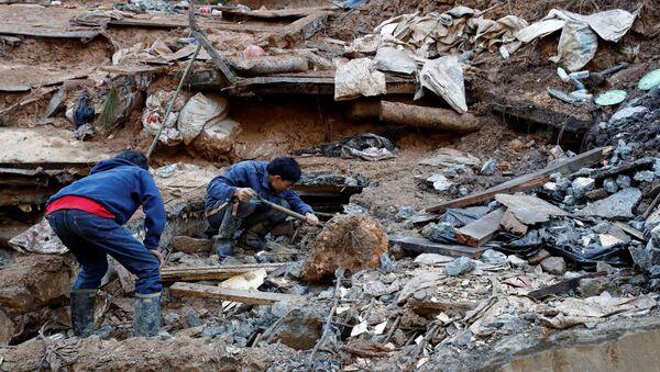 Las consecuencias del tifón Mangkhut - Sputnik Mundo