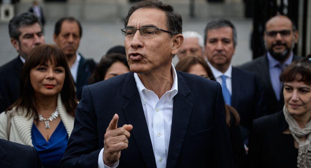 Martín Vizcarra, presidente de Perú (archivo)