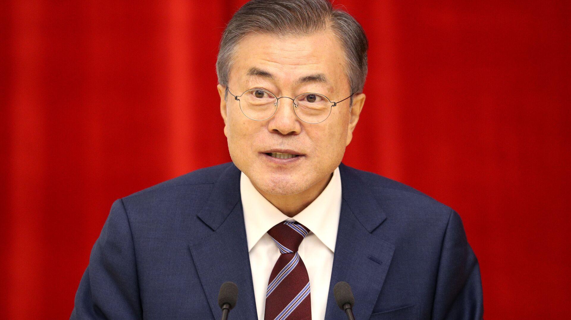 El presidente de Corea del Sur, Moon Jae-in - Sputnik Mundo, 1920, 07.06.2021
