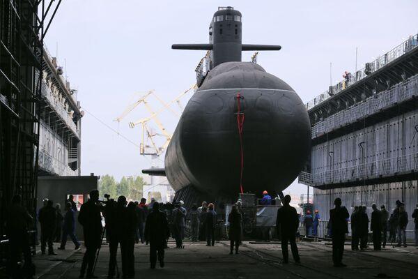 La botadura del submarino diésel-eléctrico Kronshtadt en San Petersburgo. - Sputnik Mundo