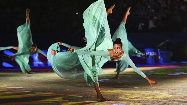 Las gimnastas el equipo nacional de Italia, en el concierto de gala del Mundial de gimnasia rítmica celebrado en Sofía (Bulgaria). - Sputnik Mundo