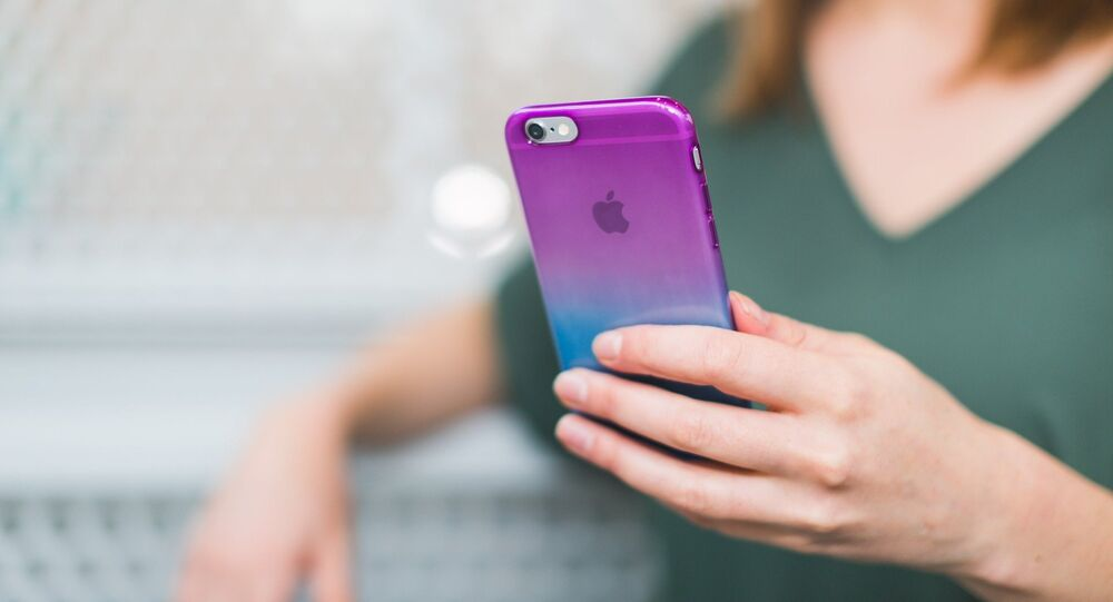 Un iPhone, teléfono móvil de Apple
