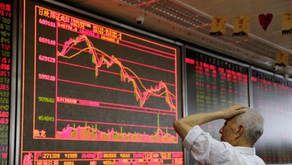 Bolsa en China (imagen referencial) - Sputnik Mundo
