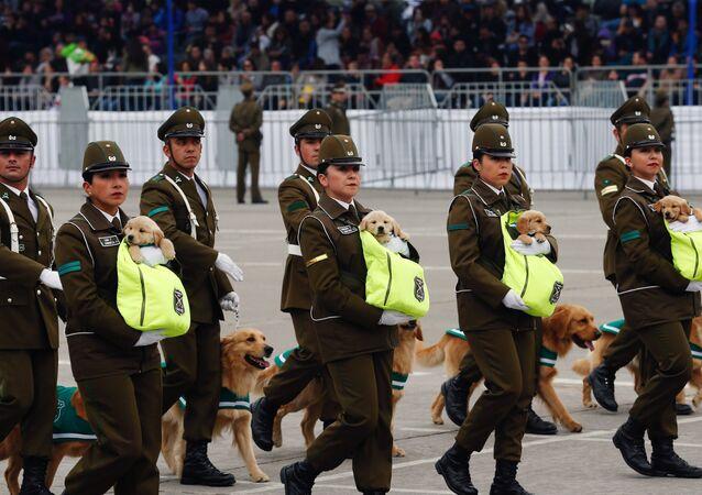 El desfile militar anual de Chile