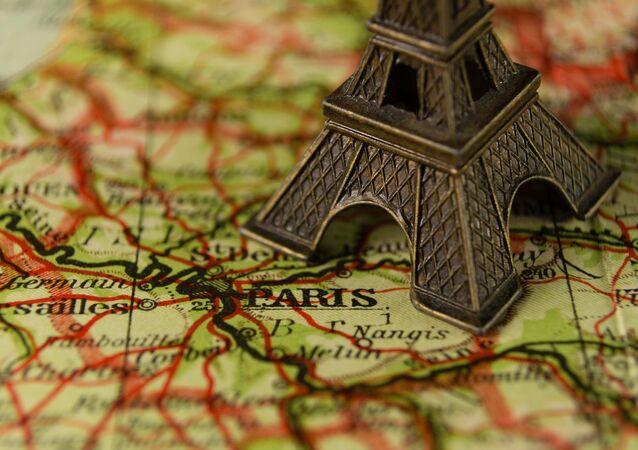 Paris en el mapa