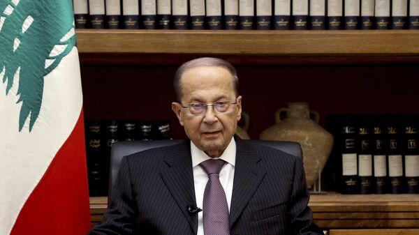 El presidente del Líbano, Michel Aoun - Sputnik Mundo