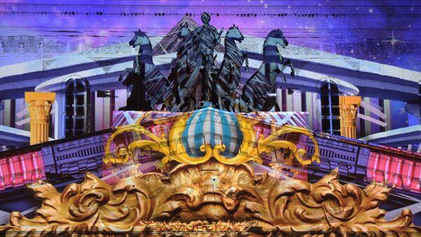 Un impresionante espectáculo de luces se exhibe en el Teatro Bolshói - Sputnik Mundo