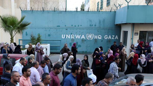 Sede de UNRWA en Gaza - Sputnik Mundo