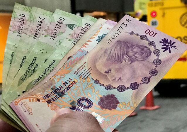 Peso argentino (archivo)