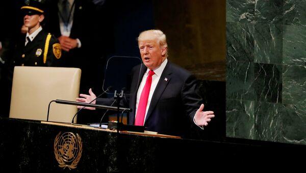 Donald Trump, presidente de EEUU en la 73 Asamblea General de la Organización de las Naciones Unidas (ONU) - Sputnik Mundo