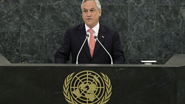 Sebastián Piñera, presidente de Chile, en la Asamblea General de la Organización de las Naciones Unidas (ONU) - Sputnik Mundo