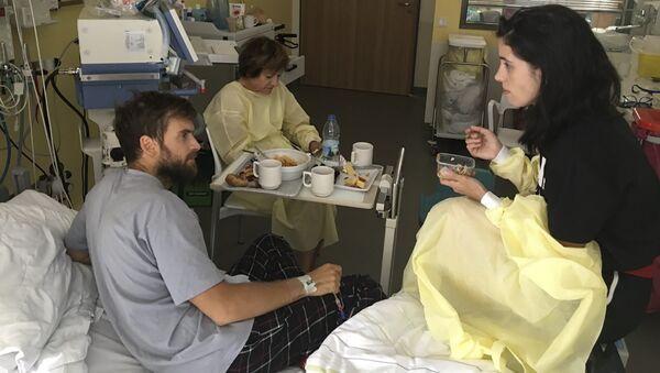 Piotr Verzílov, el activista ruso de arte político, en un hospital en Alemania - Sputnik Mundo