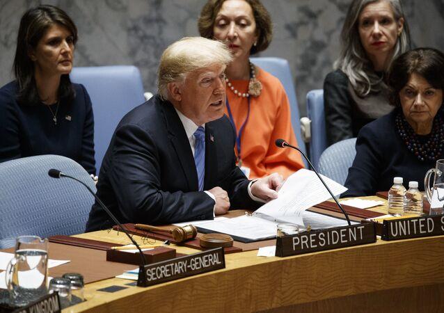Donald Trump, presidente de EEUU en el Consejo de Seguridad de la ONU