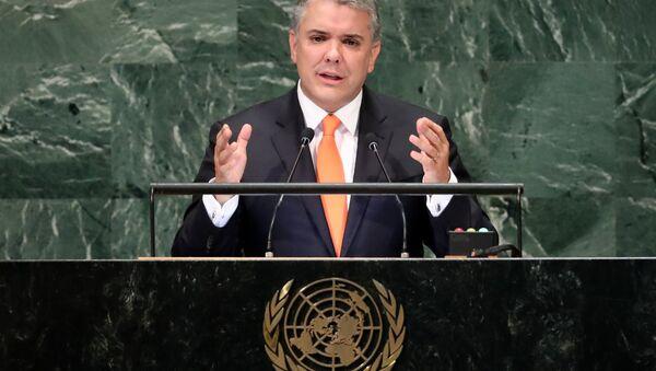 Iván Duque, presidente de Colombia, en la Asamblea General de la ONU - Sputnik Mundo