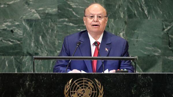 Abdo Rabu Mansur Hadi, presidente de Yemen - Sputnik Mundo