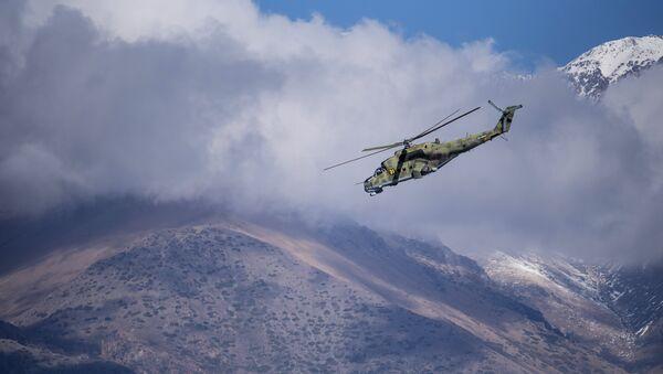 Un helicóptero Mi-35M - Sputnik Mundo