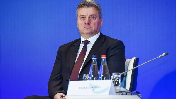 Gjorge Ivanov, presidente de Macedonia - Sputnik Mundo