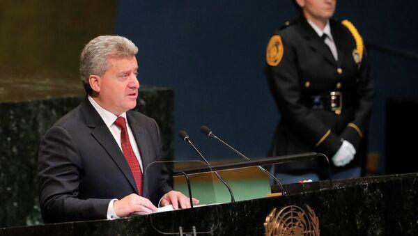 Gjorge Ivanov, presidente de Macedonia en la Asamblea General de la ONU - Sputnik Mundo