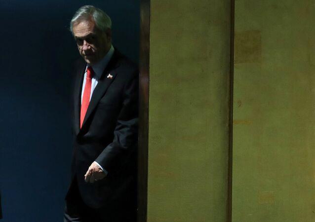 Sebastián Piñera, presidente de Chile, en la Asamblea General de la Organización de las Naciones Unidas