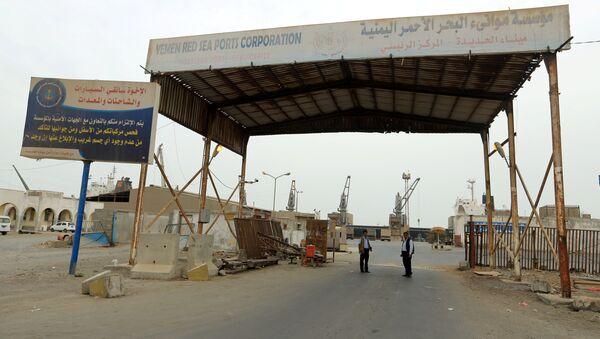 La vista al puerto yemení Al Hudaida - Sputnik Mundo