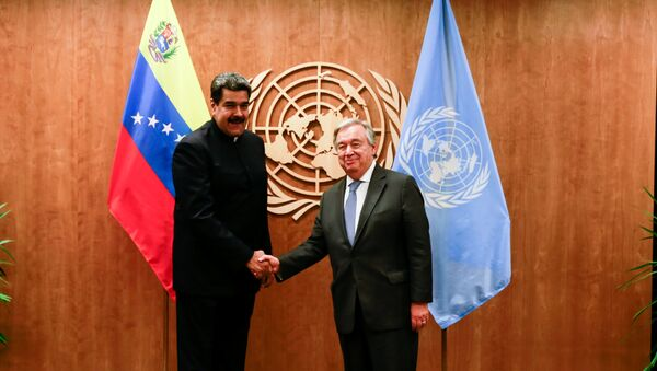 El presidente de Venezuela, Nicolás Maduro y el Secretario General de la ONU, Antonio Guterres - Sputnik Mundo