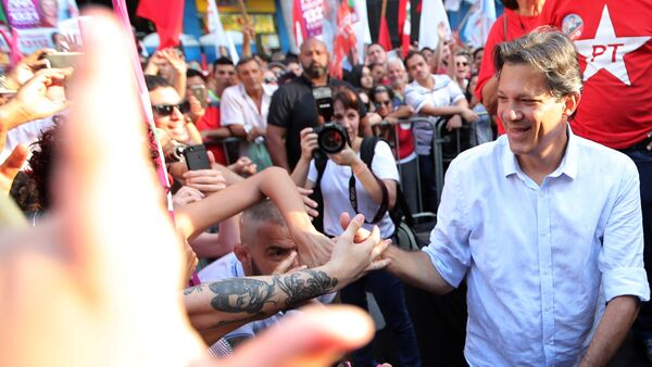 Fernando Haddad, candidato presidencial del Partido de los Trabajadores de Brasil - Sputnik Mundo