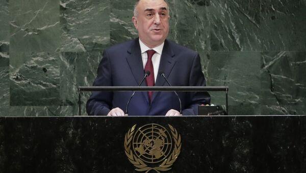 El ministro azerí de Exteriores, Elmar Mammadyarov - Sputnik Mundo