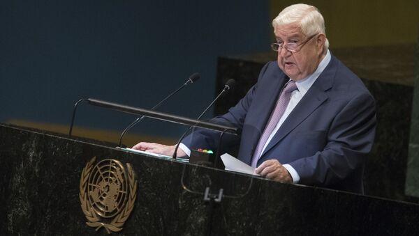 El ministro de Exteriores de Siria, Walid Mualem - Sputnik Mundo