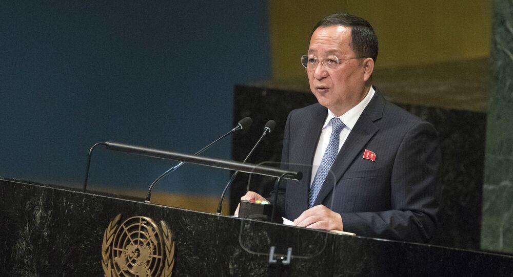 El ministro de Exteriores norcoreano, Ri Yong Ho