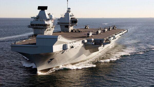 Portaviones británico HMS Queen Elizabeth - Sputnik Mundo