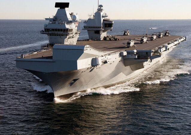 Portaviones británico HMS Queen Elizabeth
