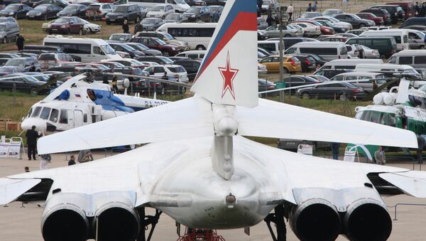 Motores del bombardero estrategico ruso Tu-160, archivo - Sputnik Mundo