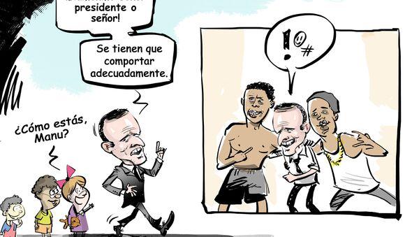 ¡Llámame señor presidente y quítate la camiseta! Las sorprendentes normas de etiqueta de Macron - Sputnik Mundo