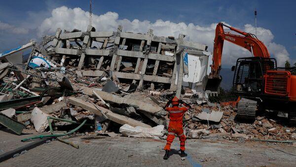 Consecuencias del sismo en Indonesia - Sputnik Mundo