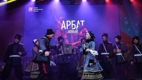 El Coro de Cosacos de Moscú durante los festejos por el Día de la Unidad Nacional de 2017, en Rusia - Sputnik Mundo