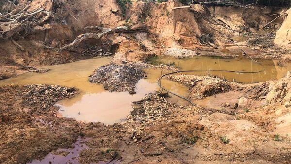 Una mina de oro ilegal en Mato Grosso - Sputnik Mundo
