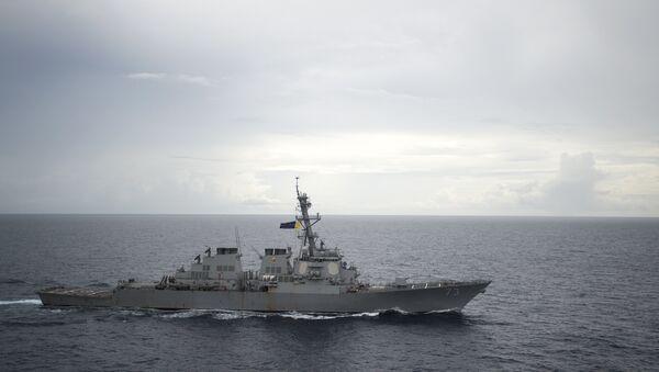El USS Decatur en aguas chinas - Sputnik Mundo