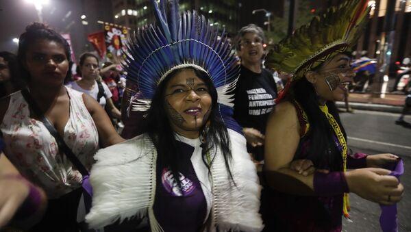 Indígena Guajajara de Brasil (archivo) - Sputnik Mundo