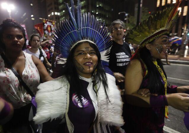 Indígena Guajajara de Brasil (archivo)