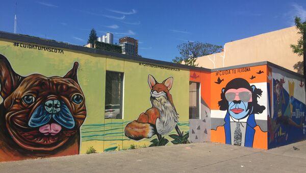 Murales en el barrio de Palermo, Buenos Aires, Argentina - Sputnik Mundo