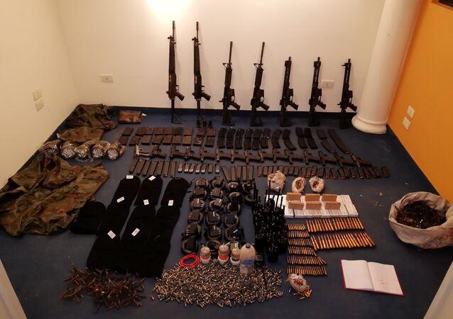 Armas del grupo criminal Comando Vermelho