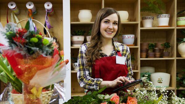Una mujer que ama las flores... porque es una florista - Sputnik Mundo