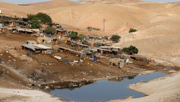 La aldea beduina de Jan al Ahmar en Cisjordania - Sputnik Mundo