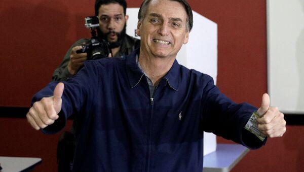 Jair Bolsonaro, candidato a la Presidencia de Brasil (archivo) - Sputnik Mundo