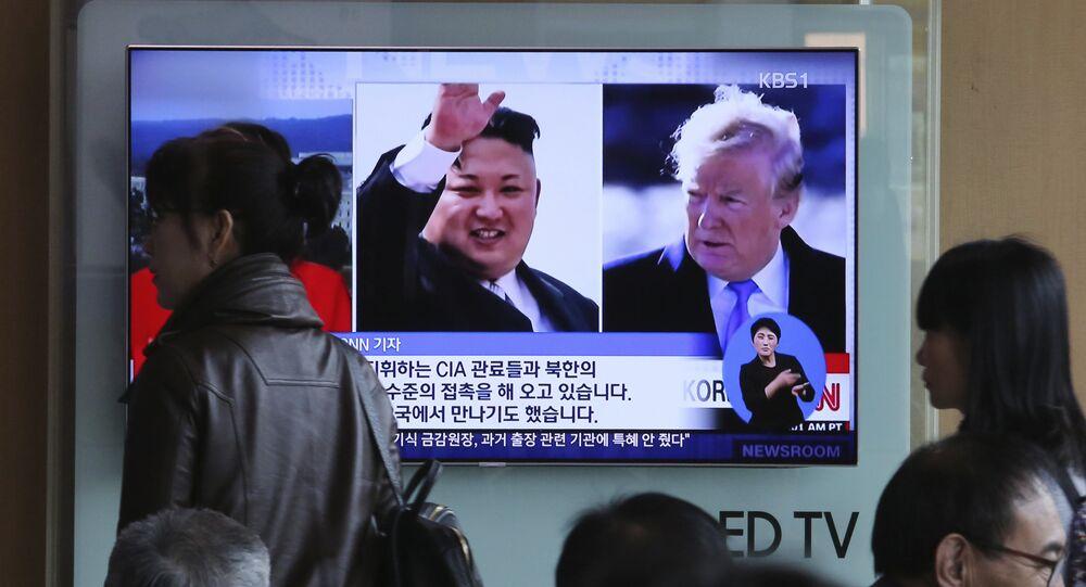 El líder norcoreano, Kim Jong-un, y el presidente de EEUU, Donald Trump