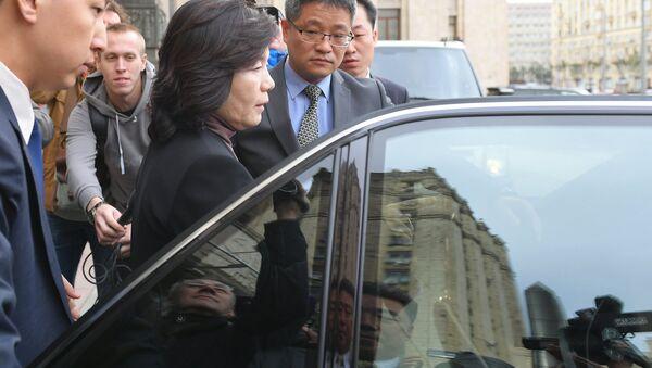 Choe Son-hui, viceministra de Exteriores de Corea del Norte después de visitar el Ministerio de Asuntos Exteriores de Rusia - Sputnik Mundo