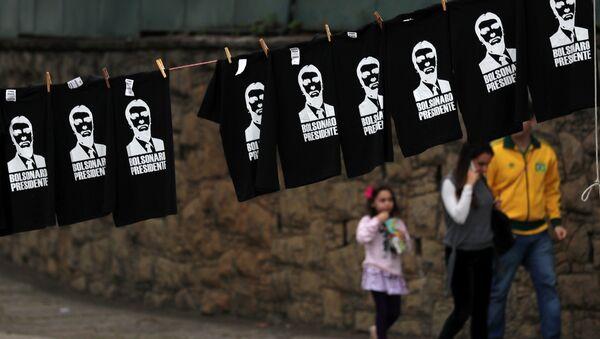 Las camisetas con imágenes de Jair Bolsonaro en Brasil - Sputnik Mundo