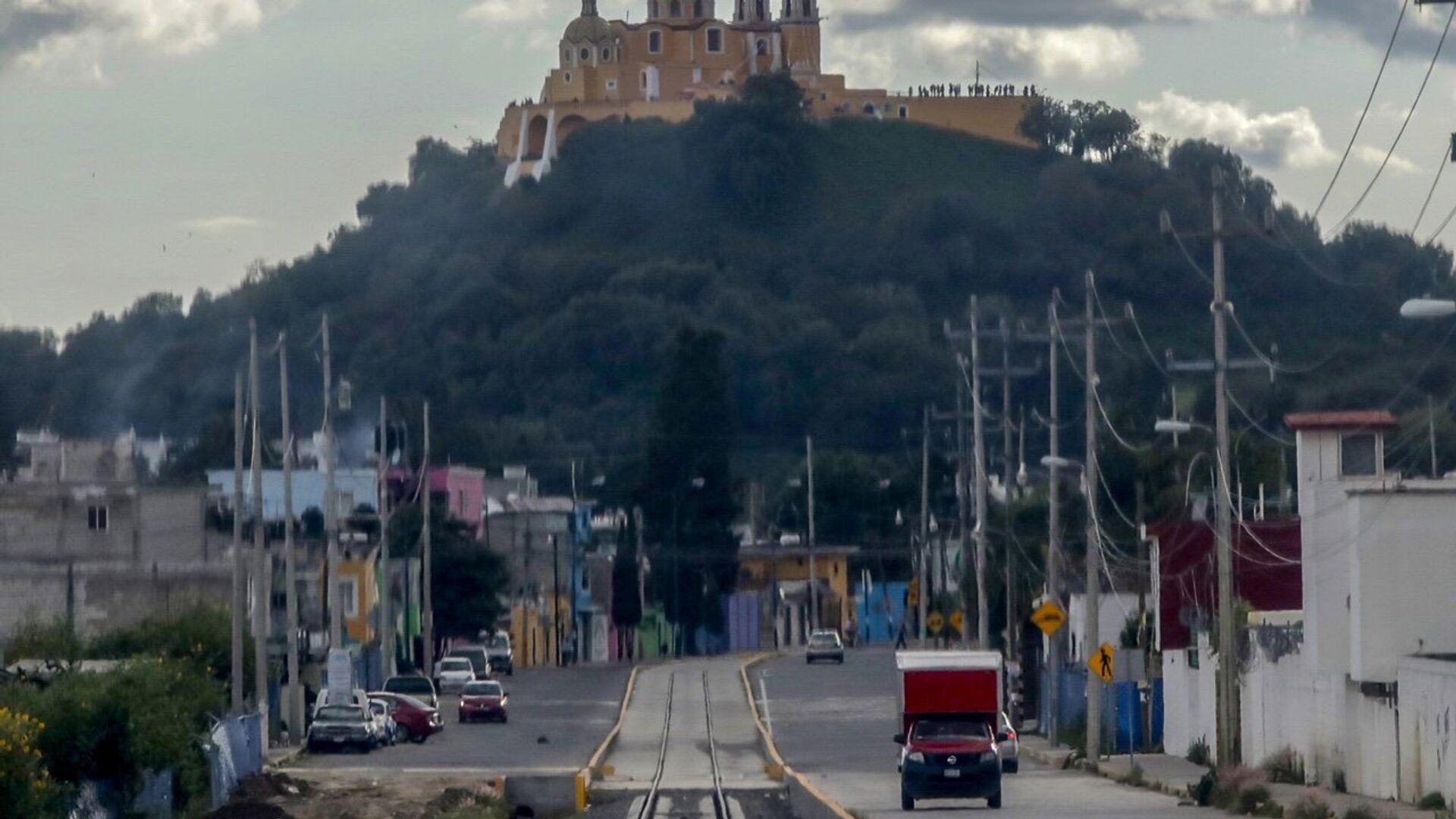 La vía del Tren Turístico Puebla-Cholula - Sputnik Mundo, 1920, 06.06.2021